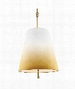"Tori 18"" 3 Light Large Pendant in Bali Brass"