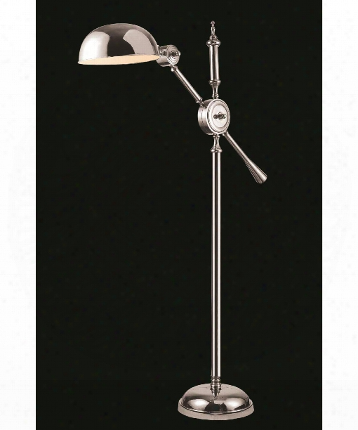 "Vintage Task 13"" 1 Light Floor Lamp In Chrome"