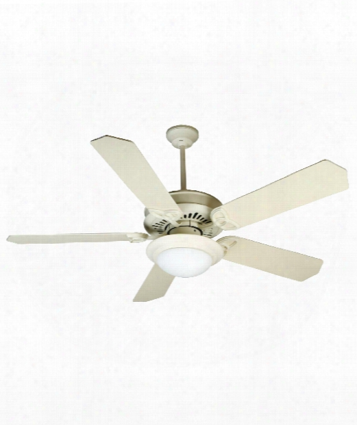 American Tradition 2 Light Ceiling Fan In Antique White