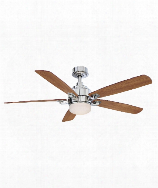 Benito 1 Light Ceiling Fan In Polished Nickel