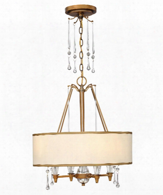 "Bentley 20"" 4 Light Large Pendant In Brushed Bronze"
