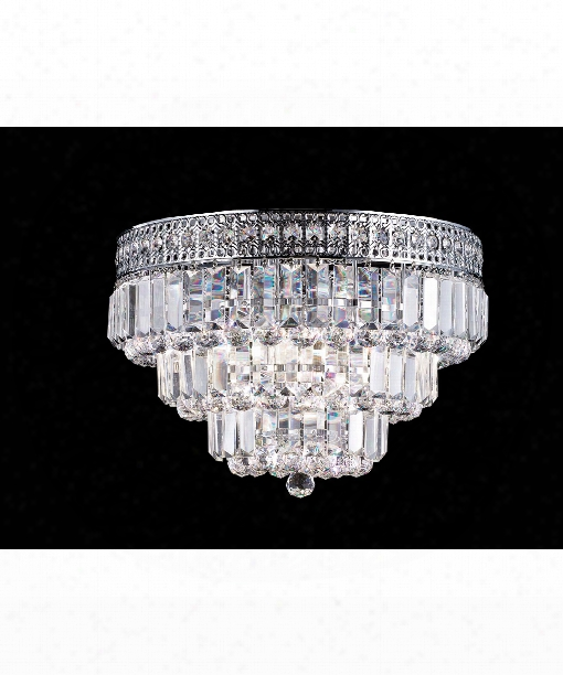 """Bradford 14"""" 3 Light Wall Sconce In Polished Chrome"""