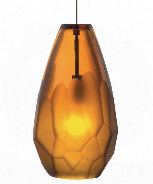 """Briolette 4"""" 1 Light Mini Pendant In Bronze"""