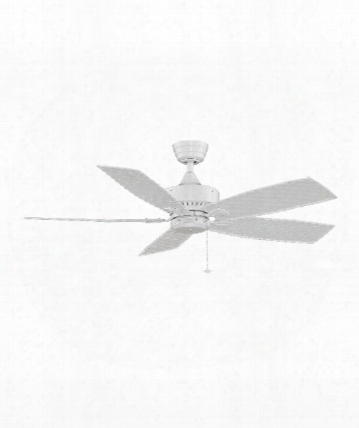 Cancun Outdoor Ceiling Fan In White