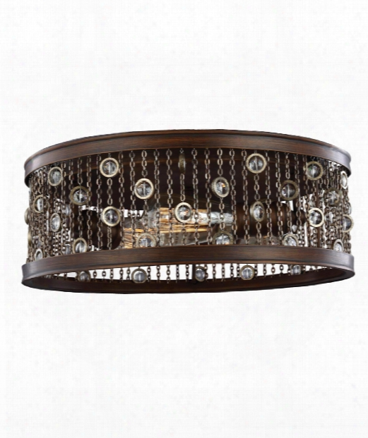 "Colorado Springs 16"" 2 Light Flush Mount In Chestnut Bronze"