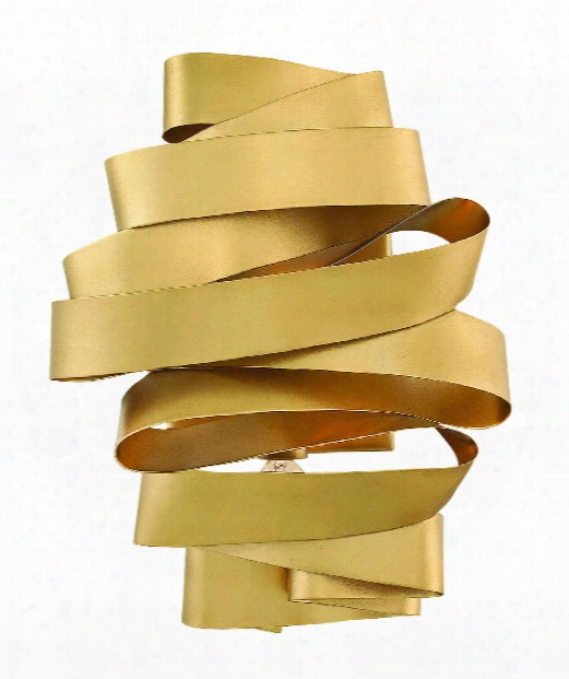 """Delfina 9"""" 2 Light Wall Sconce In Deluxe Gold"""