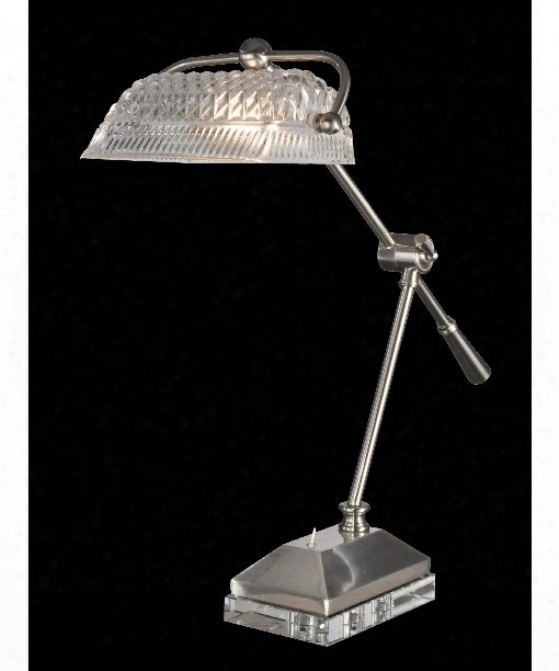"Devlin 24"" 1 Light Desk Lamp In Satin Nickel"