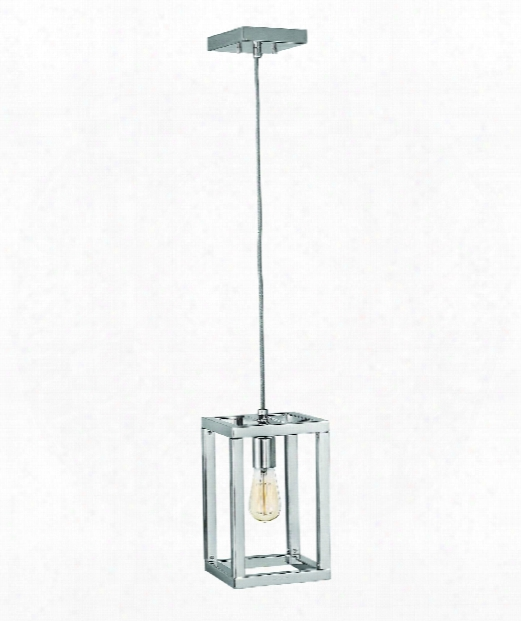"Ensemble 7"" 1 Light Mini Pendant In Polished Nickel"