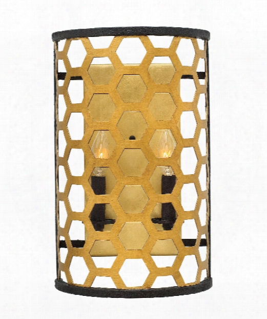 """Felix 10"""" 2 Light Wall Sconce In Sunset Gold"""