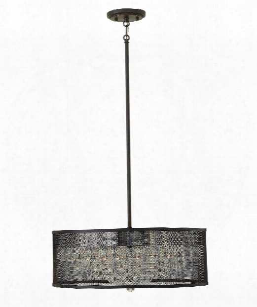 "Fiona 20"" 5 Light Foyer Pendant In Black"