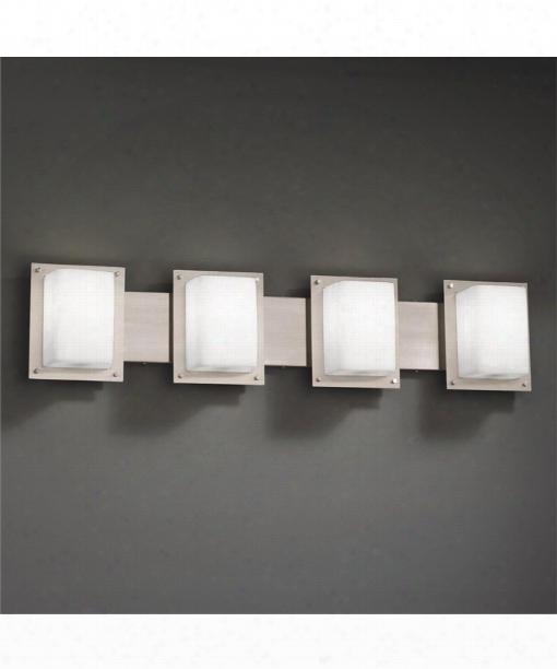 "Fusion 15"" 4 Light Bath Vanity Light In Brushed Nickel"
