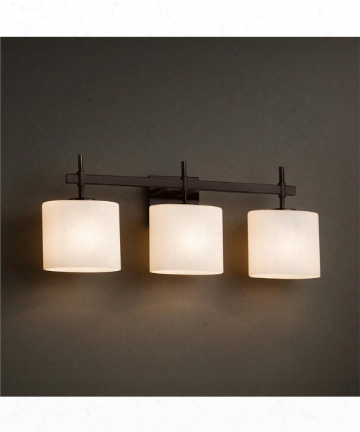 "Fusion 25"" 3 Light Bath Vanity Light In Dark Bronze"