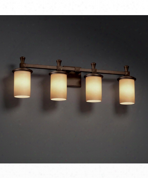 "Fusion 29"" 4 Light Bath Vanity Light In Dark Bronze"