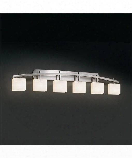 "Fusion 56"" 6 Light Bath Vanity Light In Brushed Nickel"