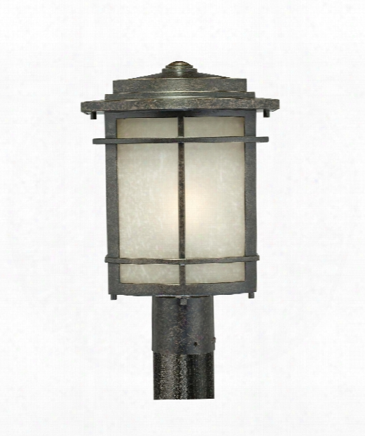 "Galen 10"" 1 Light Outdoor Outdoor Post Lamp In Imperial Bronze"
