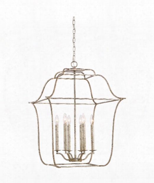 "Gallery 22"" 6 Light Large Pendant In Century Silver Leaf"