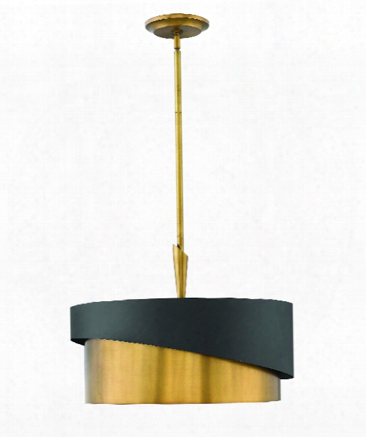 "Gigi 21"" 3 Light Large Pendant In Heritage Brass"