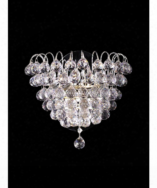 """Harrison 12"""" 2 Light Wall Sconce In Polished Chrome"""