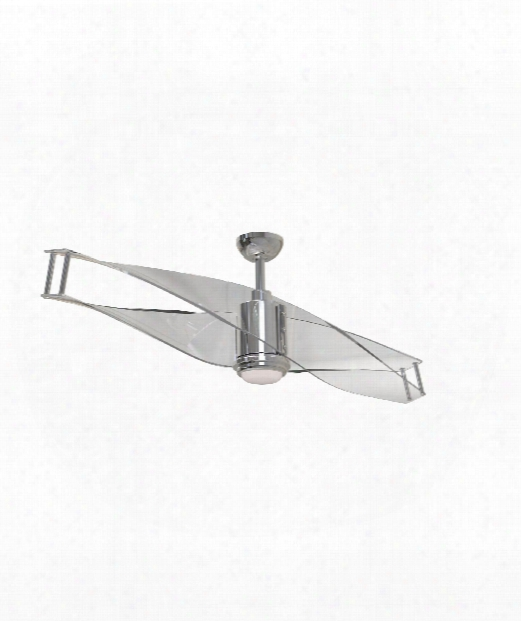 "Illusion 56"" Led 1 Light Ceiling Fan In Polished Nickel"