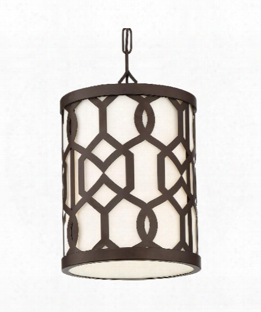 "Jennings 10"" 1 Light Outdoor Outdoor Hanging Lantern In Dark Bronze"