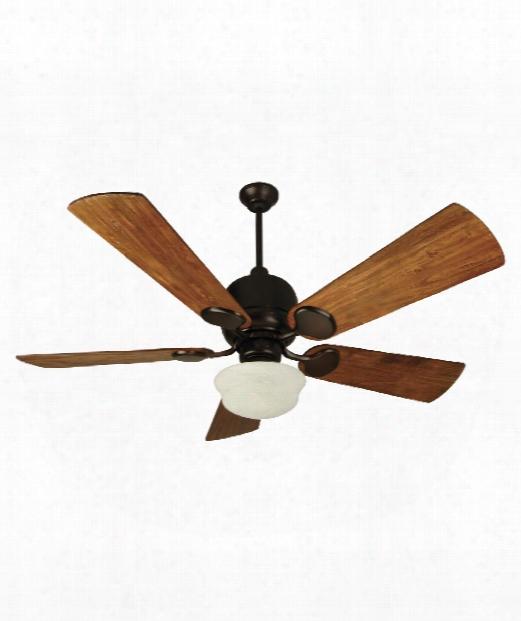 Kona Bay 1 Light Ceiling Fan In Oiled Brozne