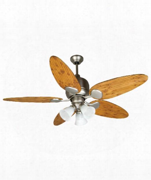 Kona Bay 3 Light Ceiling Fan In Brushed Satin Nickel