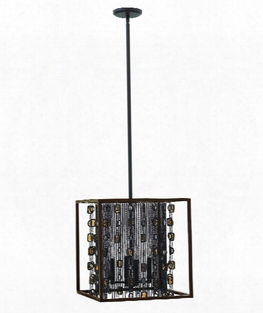 "Mercato 16"" 4 Light Large Pendant In Anchor Bronze"
