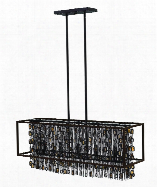 "Mercato 38"" 5 Light Island Light In Anchor Bronze"
