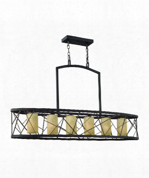 "Nest 48"" 6 Light Island Light In Oil Rubbed Bronze"