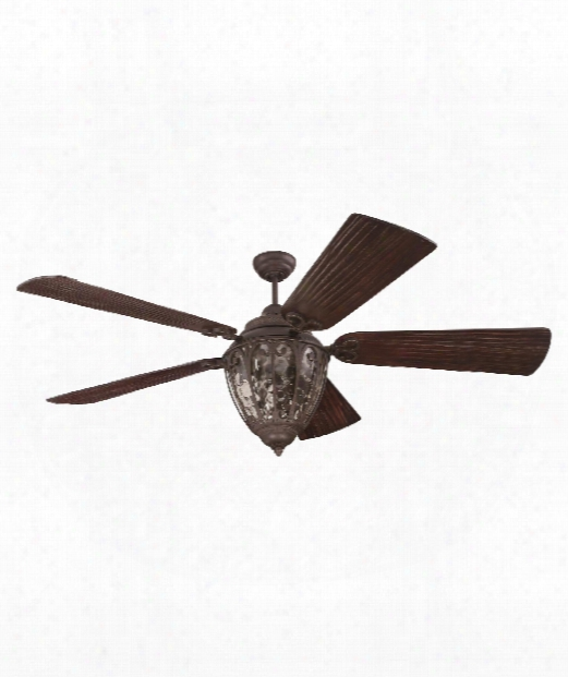 Olivier 3 Light Ceiling Fan In Aged Broonze Textured