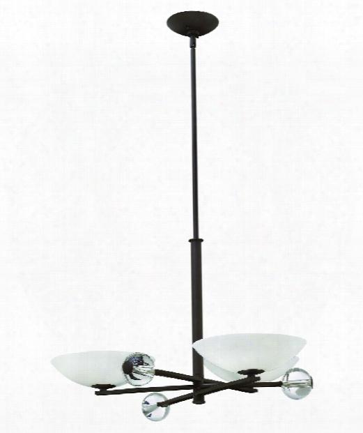 "Parallax 34"" 3 Light Chandelier In Vintage Bronze"
