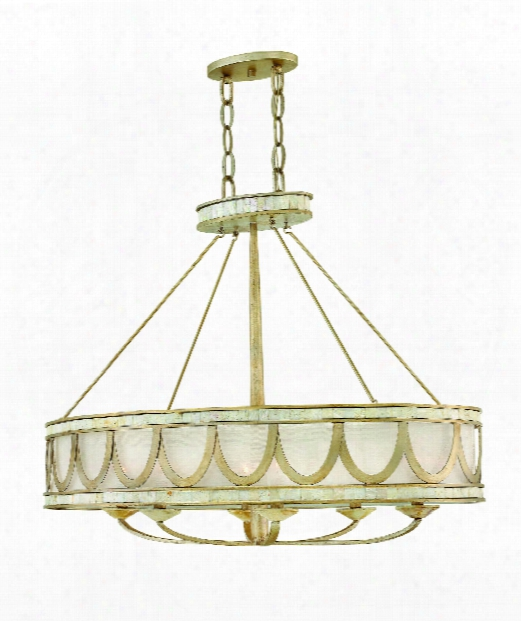 "Sirena 6"" 6 Light Large Pendant In Champagne Gold"