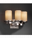 """Fusion 14"""" 3 Light Wall Sconce in Brushed Nickel"""