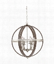 "Fusion 25"" 6 Light Large Pendant in Brushed Nickel"