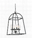 "Gazebo 17"" 4 Light Large Pendant in Black"
