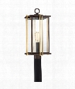 "Goldenrod 10"" 1 Light Outdoor Outdoor Post Lamp in Western Bronze"