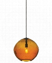 "Isla 7"" 1 Light Mini Pendant in Bronze"