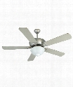 Leeward 2 Light Ceiling Fan in Brushed Satin Nickel