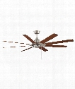 "Levon 63"" Ceiling Fan in Brushed Nickel"