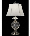 "Lotus Sunrise 16"" 1 Light Table Lamp in Antique Nickel"