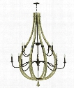 "Middlefield 48"" 12 Light Chandelier in Iron Rust"