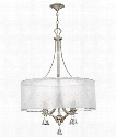 "Mime 25"" 4 Light Chandelier in Brushed Nickel"