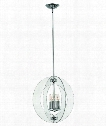"Solstice 18"" 4 Light Large Pendant in Polished Chrome"