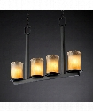 "Veneto Luce Dakota 27"" 4 Light Island Light in Matte Black"