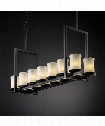 "Veneto Luce Dakota 42"" 14 Light Island Light in Matte Black"