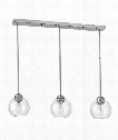 "Vivo 34"" 3 Light Multi Pendant Light in Brushed Nickel"