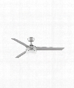 "Xeno 56"" LED 1 Light Outdoor Ceiling Fan in Brushed Nickel"