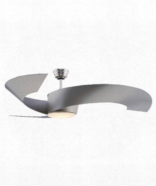 "Torto 52"" Led 1 Light Ceiling Fan In Brushed Nickel"