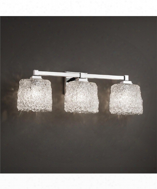 "Veneto Luce 25"" 3 Light Bath Vanity Light In Polished Chrome"