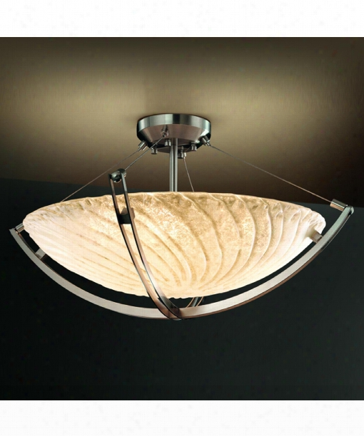 "Veneto Luce Crossbar 22"" 3 Light Large Pendant In Brushed Nickel"